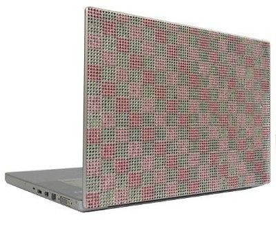 Silver Checkers 13.3 Crystal Rhinestone Bling Laptop Cover Skin Case