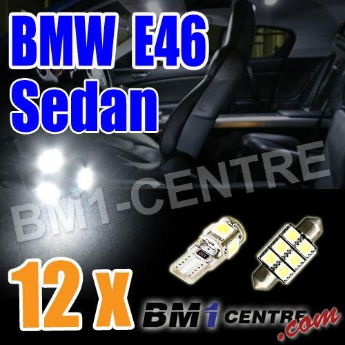 BMW 3 SERIES E46 SEDAN LED LIGHT BULB KIT INTERIOR FOOTWELL LUGGAGE