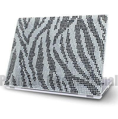 Zebra Notebook Laptop Cover Bling Rhinestone Crystal Sticker Skin 12