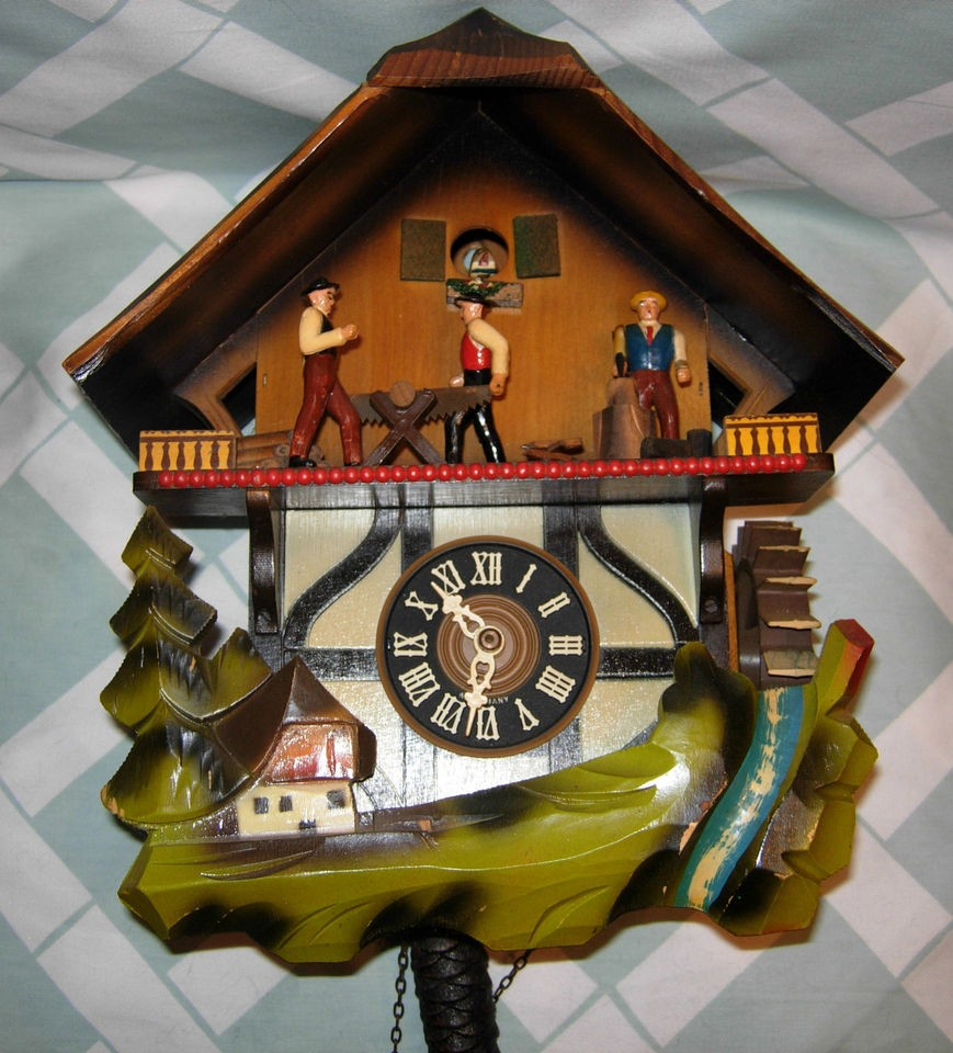 1969 german cuckoo clock black forest