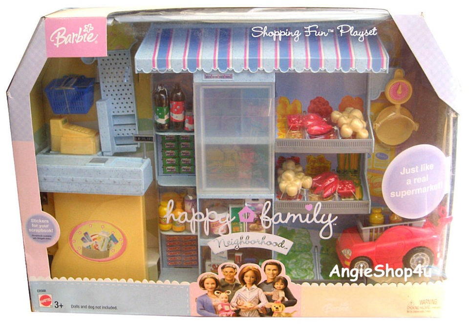 Barbie Happy Family Shopping Fun Playset Supermarket Brand New