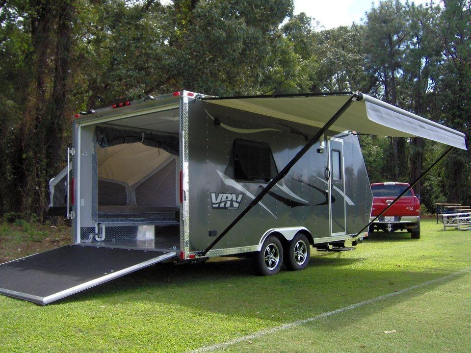 Cool Enclosed Cargo Trailer Camper Conversion  2016 Car