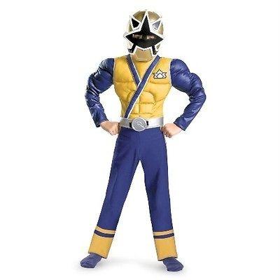 Power Rangers Gold Ranger Samurai Muscle Child Costume Size 7 8