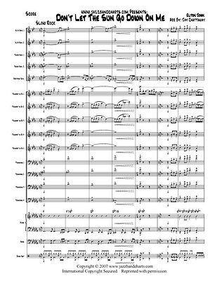 The Sun Go Down   Big Band Jazz Chart   Maynard Ferguson   Score+Parts