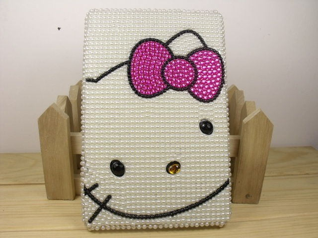 crystal Pearl skin Hello kitty back cover case for  Kindle Fire