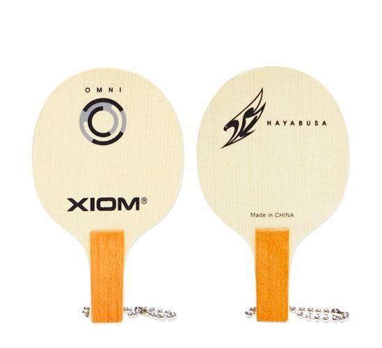 SHIP) NEW XIOM LOGO MINI BLADE KEY RING Raket Table Tennis Ping Pong