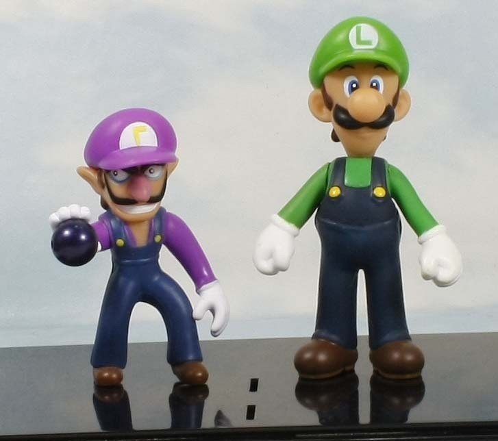 super mario bros luigi waluigi 4 5 figure toy lot 2