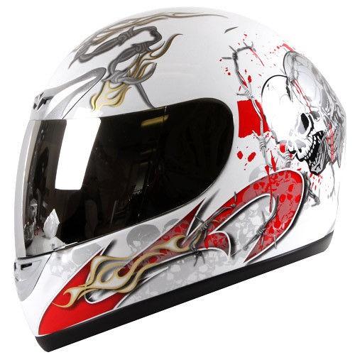 Spike Blood Skull Street Bike Motorcycle Helmet Full Face DOT S/M/L/XL