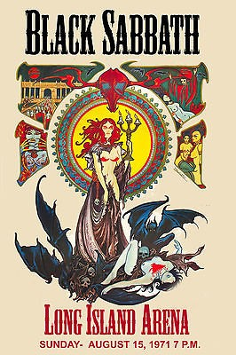 Ozzy Osbourne & Black Sabbath at Long Island Arena Concert Poster 1971