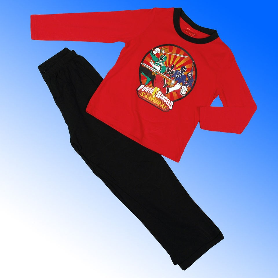 Boys Power Rangers Samurai Pyjamas Age 3 10 Years *Fast 1st Class Fast