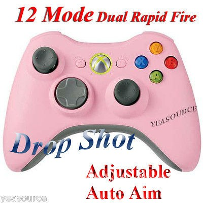 PINK xBox 360 Dual Rapid Fire Controller 12 Mode Drop Shot COD45678