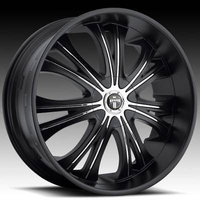 22x9 Black Mamba Matte Black Wheel & TIRE Package 22inch with TIRES
