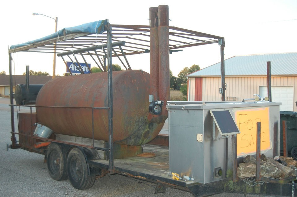 Extra Large BBQ Smoker Trailer   ON SALE  NEW PRICE