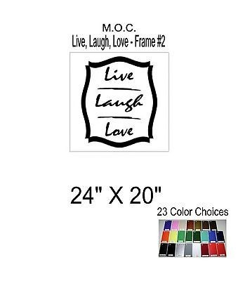 Sticker Vinyl Decal Wall Decor Words Live Laugh Love with Border Large