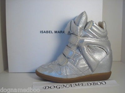 2012 ISABEL MARANT silver bekkett bazil trainer sneaker shoe 38 or 40
