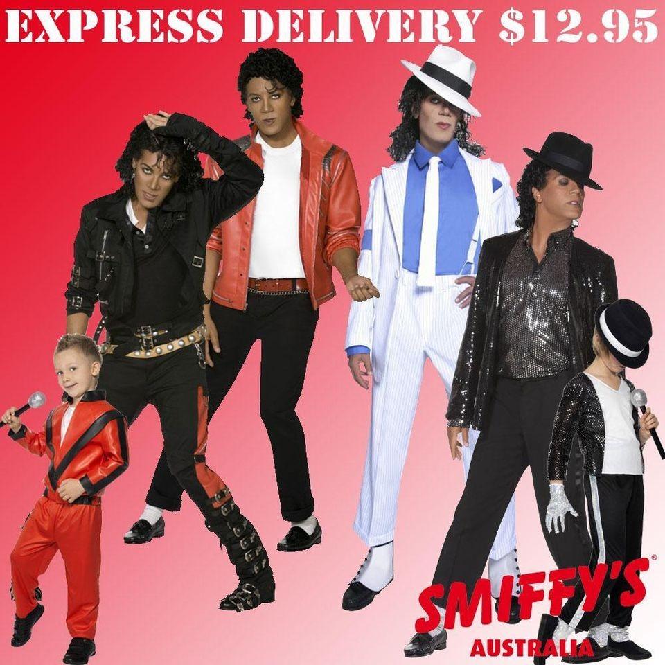 MICHAEL JACKSON THRILLER/BAD/BILLIE JEAN SMIFFYS FANCY DRESS COSTUME