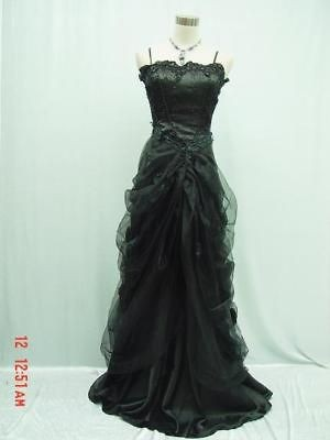 black lace prom dresses in Wedding & Formal Occasion
