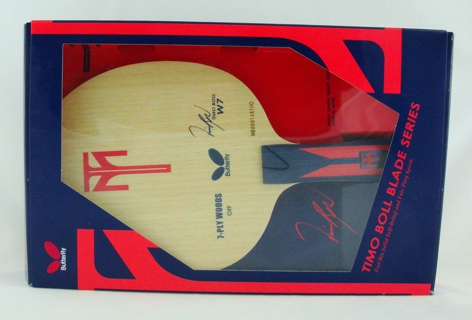 Butterfly TIMO BOLL W7 Table Tennis Racket (FL / ST)
