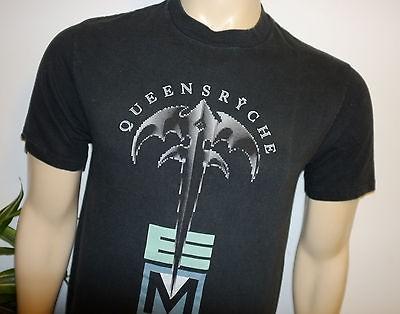 RaRe *1991 QUEENSRYCHE* black vtg rock concert tour t shirt (M) 80s