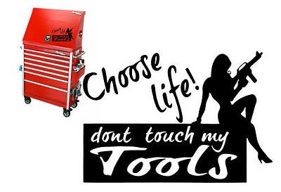 10X7 DONT TOUCH MY TOOLS VINYL DECAL WALL STICKER BOX SNAP ON MAC
