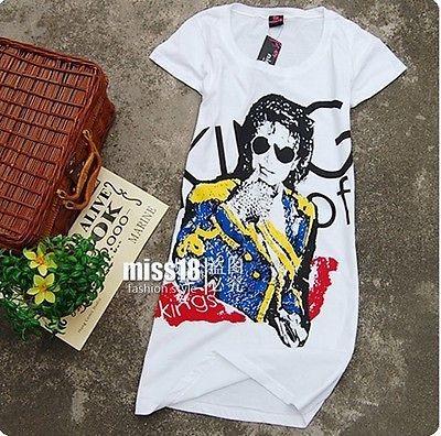 Michael Jackson history Billie Jean Grammy Lady T Shirt Slim style
