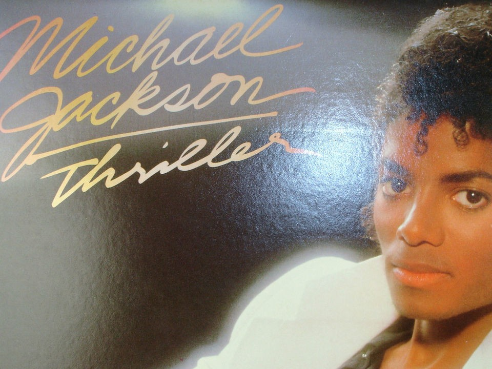 1983 Michael Jackson Thriller 33 rpm lp album original dust cover 1
