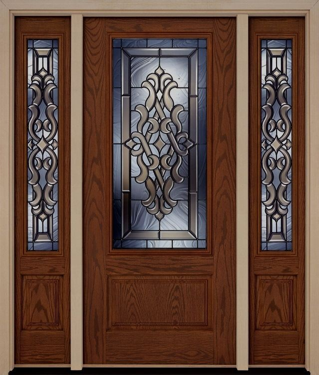 Fiberglass entry door with sidelites