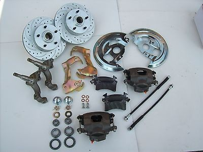 GM AFX Body front Disc Brake conversion Kit cross drilled & slotted