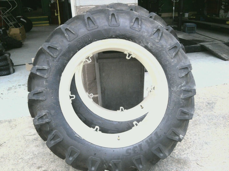 24 Inch Wheels Ford Tractor Parts : Ford jubilee n farm tractor tires w rims