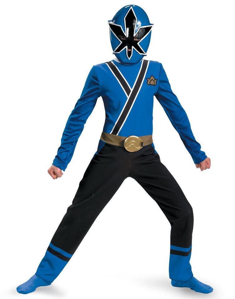 Samurai BLUE Ranger Costume S 4 6 Boys Child Kids Halloween Kevin