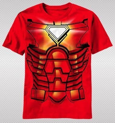 NEW Marvel Iron Man Stark Armor Body Suit Core Costume Kids Boy T