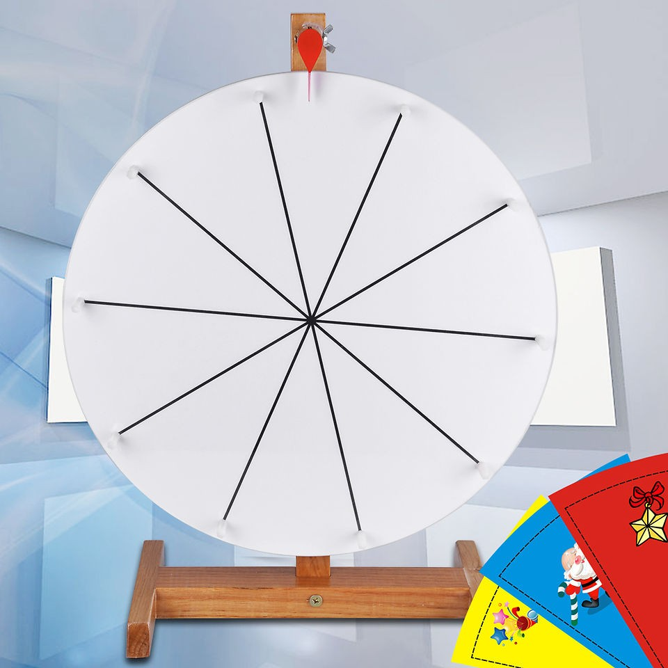 16 Prize Wheel Free Template Diy Design Tabletop Spin Game Trade Show