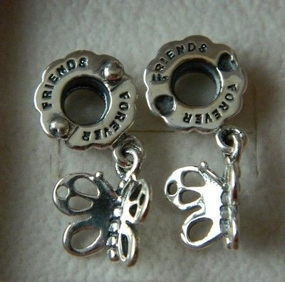 Newly listed Authentic Pandora Friends Forever Butterfly Charm