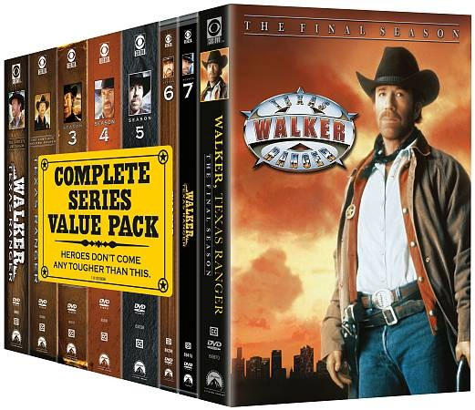 Walker, Texas Ranger The Complete Series DVD, 2010, 51 Disc Set