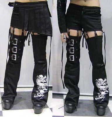 Punk Unisex Visual kei Rock fashion Nana short Pants+skirt+leg warmers