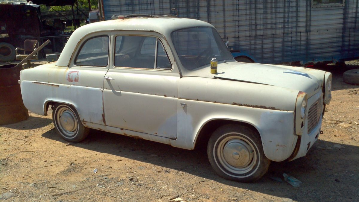 1957 Ford Anglia 2 Door 3 Speed 4 Cylinder Solid Hot Rat Rod Project