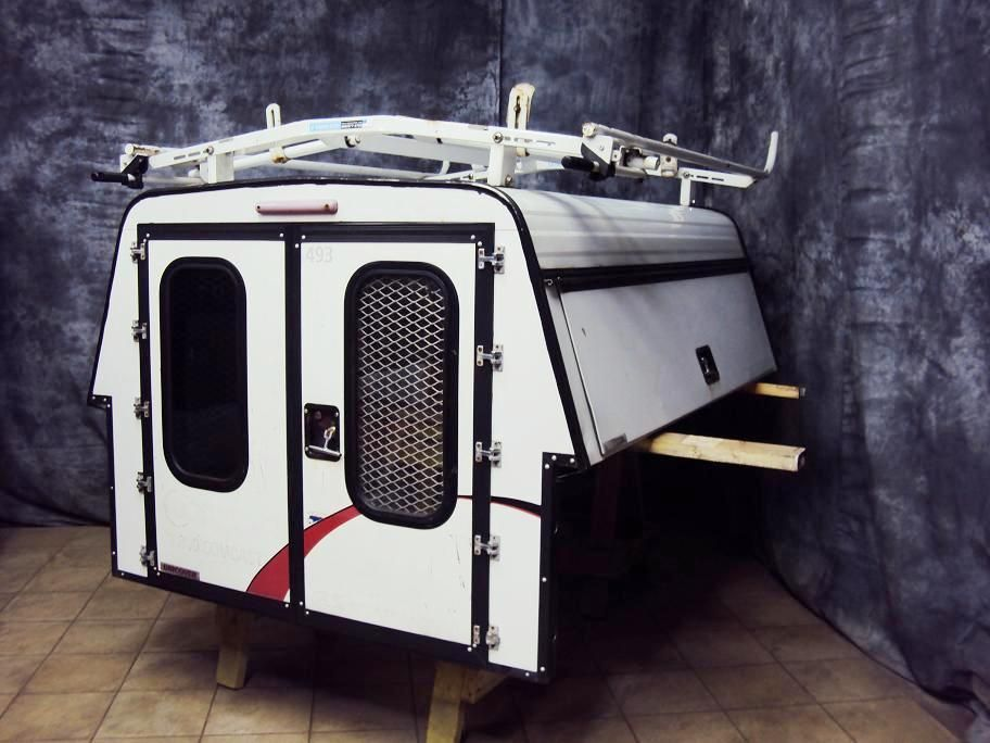 chevy colorado utility truck top camper shell cap w adrian steel racks. Black Bedroom Furniture Sets. Home Design Ideas