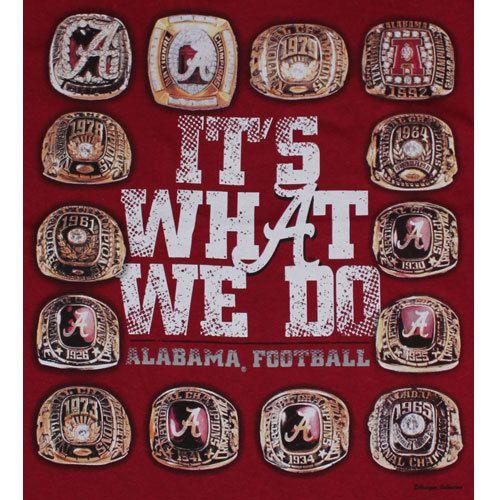 Alabama Crimson Tide Football T Shirts Its What We do Championship