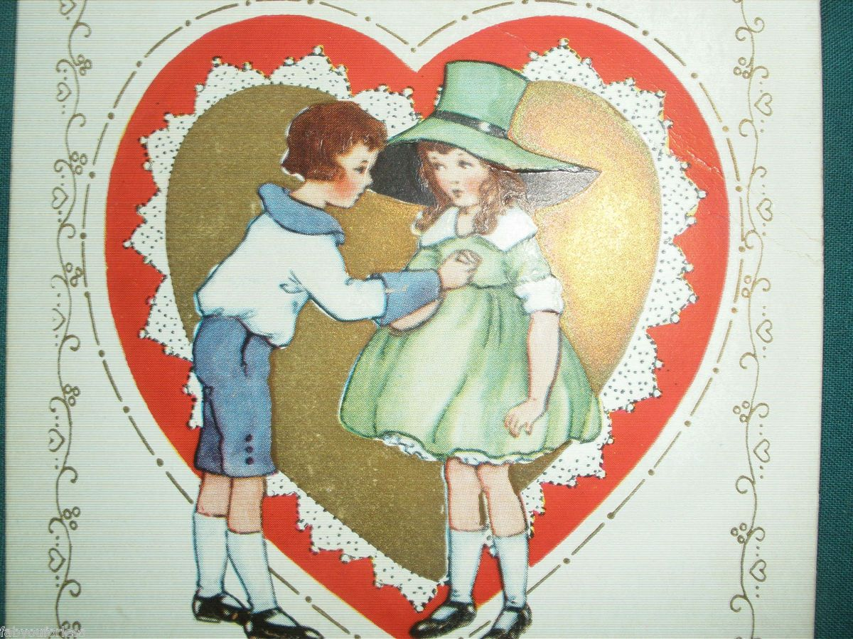 VALENTINE DAY POSTCARD 1923 WALLACETON PA FEB 13 CANCEL CANCELLED ONE