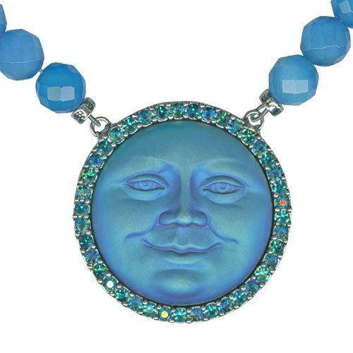 Kirks Folly Seaview Moon Magic Beaded Necklace Blue Zircon