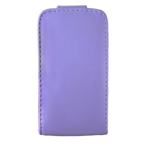 Purple Leather Hard Case Cover for A pple I Phone 4G ARA