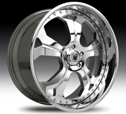 22 asanti AF138 Chrome Wheels Rims 3 Piece