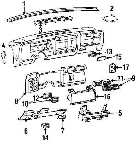 Defroster Grille Dash Vent Interior Chevy S10 GMC Sonoma Blazer Jimmy