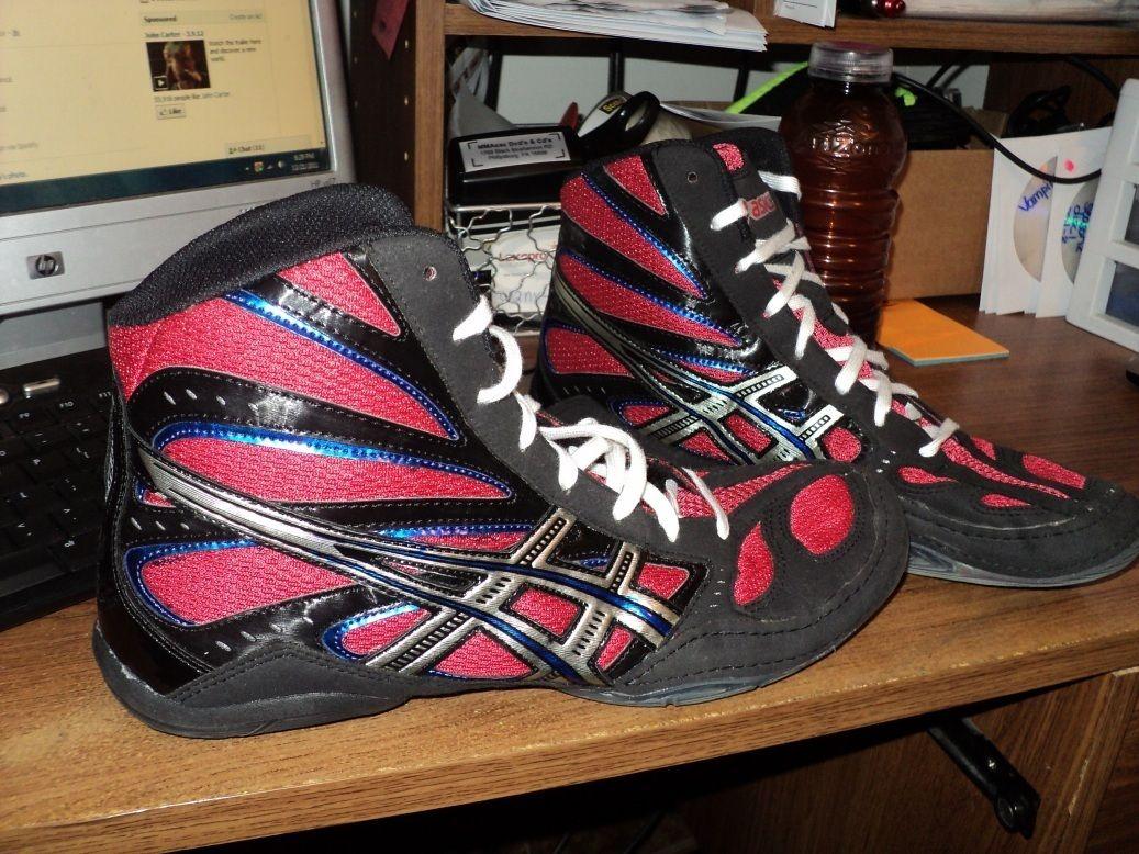 Asics Split Second 8 Wrestling Shoes Custom Mens Sz 12