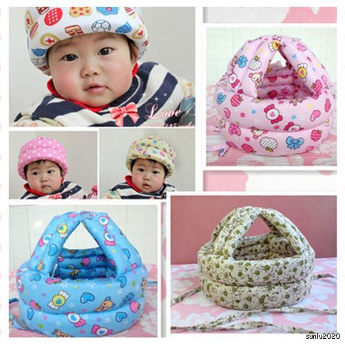 Cute Baby Toddler Safety Helmet Headguard Hats Cap No Bumps Adjustable
