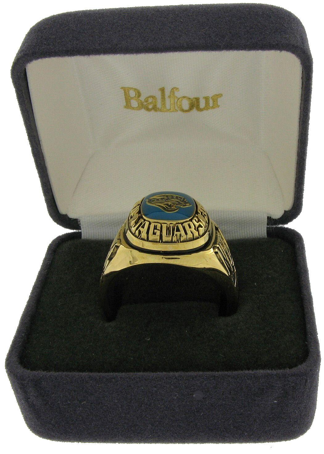 Balfour Ring Football NFL Team Jacksonville Jaguars Sz 9 5