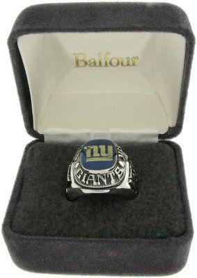 Balfour Ring Football New York Giants Offical Nfl Team Sz 13.5