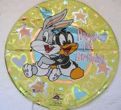 Baby looney tunes party 1st birthday mylar balloon new for Baby looney tune decoration