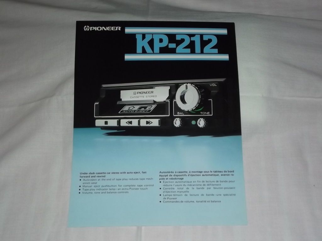 Pioneer Kp 212 Cassette Car Stereo Original Catalog Brochure X Rare Alpine 7163 Wiring Harness Popscreen Video Search Bookmarking And Discovery Engine
