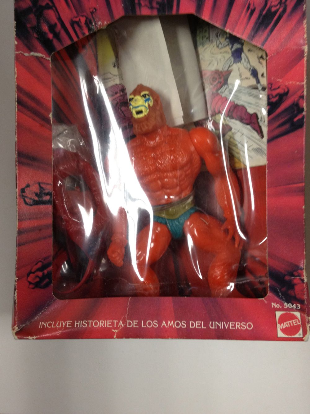 Los Amos Beast Man MOTU Mexico Boxed Mattel He Man Masters of The